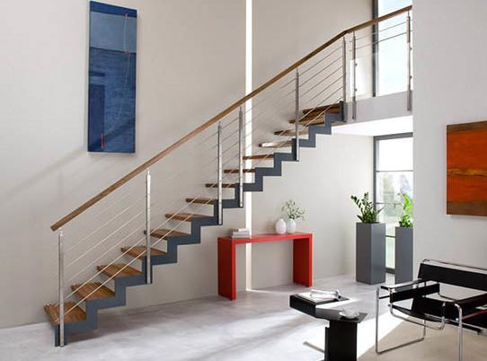 Escalier Bois M Tal Altair Les Mat Riaux - Amenagement Escalier ...